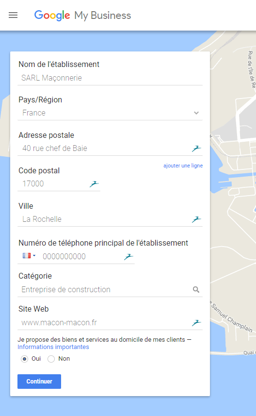 Etape 2 Google My Business