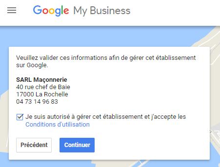 Etape 4 Google My Business