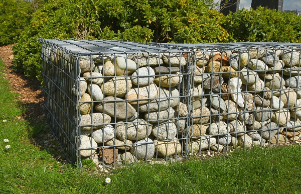Muret en gabions