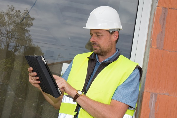 Tablette sur un chantier
