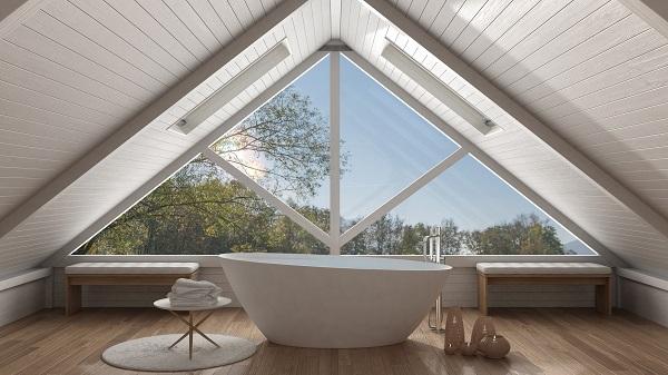 Une baignoire sous les toits