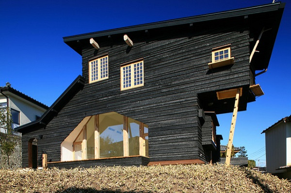 Maison japonaise en construction