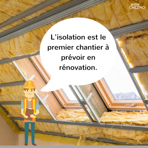 L'isolation est la priorité dans vos travaux de rénovation