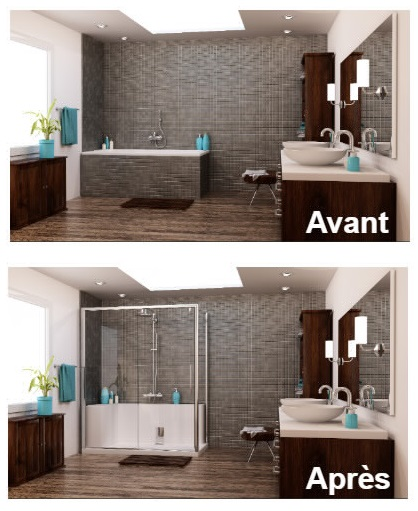 salle de bain rnove avant aprs relooking salle de bain avant apres pour deco salle de bain. Black Bedroom Furniture Sets. Home Design Ideas