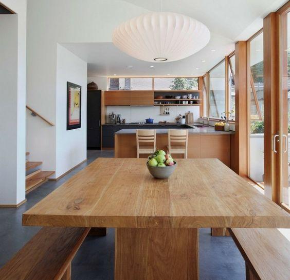 7 id es pour une cuisine ouverte moderne bienchezmoi for Cuisine ouverte table