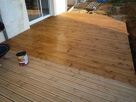 terrasse bois lasure diverses id es de conception de patio en bois pour votre. Black Bedroom Furniture Sets. Home Design Ideas