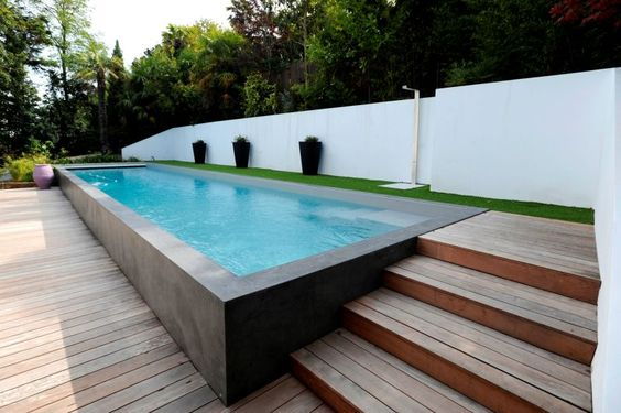 les piscines enterr es les plus appr ci es bienchezmoi. Black Bedroom Furniture Sets. Home Design Ideas