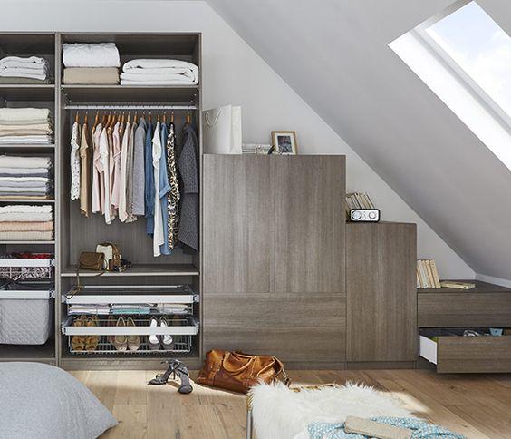 20 dressings de r ve pour les combles bienchezmoi. Black Bedroom Furniture Sets. Home Design Ideas