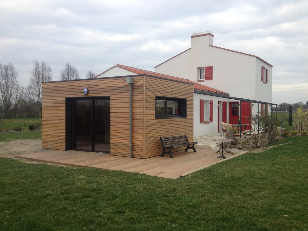 extension de maison en bois prix au m2 photos de