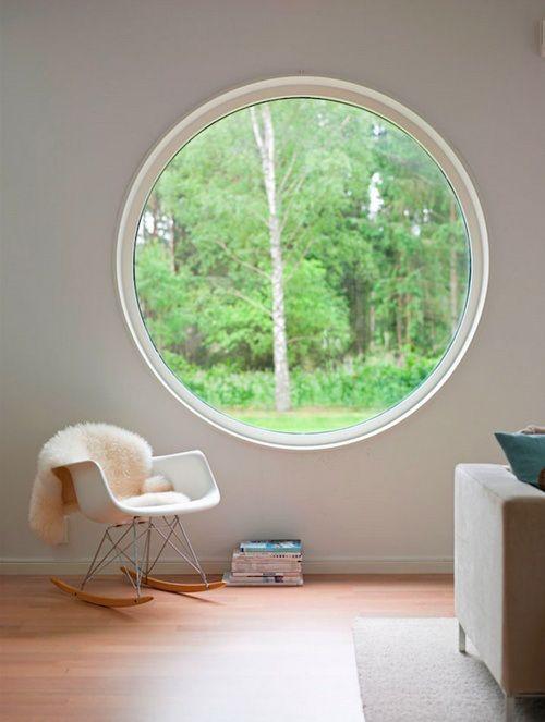 Fenêtre PVC sur mesure oeil de boeuf