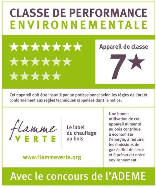 Label Flamme Verte classe 7 étoiles