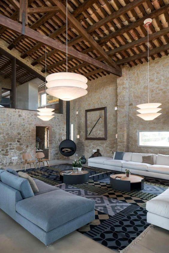 Grange rénovée loft