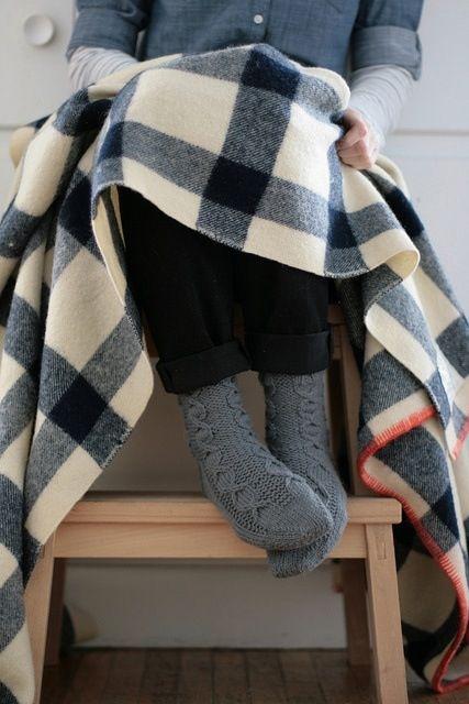 Hygge plaid chaussettes