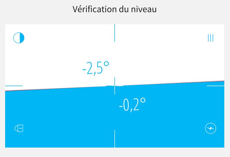Vérification du niveau