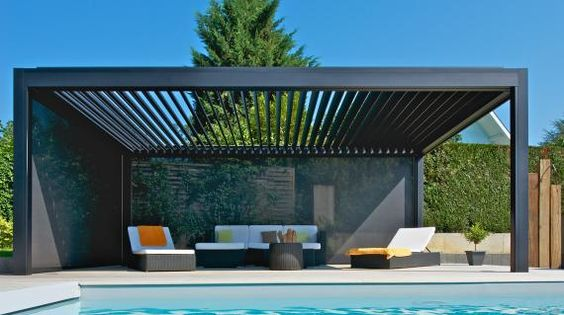 pergola alu l gance et caract re bienchezmoi. Black Bedroom Furniture Sets. Home Design Ideas