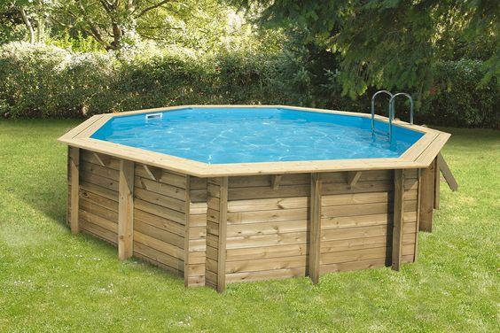 Le bois le must de la piscine ! BienChezMoi # Piscine Bois Hors Sol Octogonale