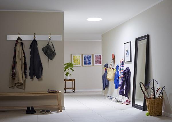 Puits de lumière dans une entrée