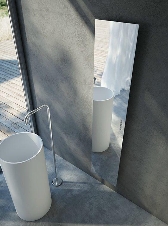 Radiateur design en verre miroir