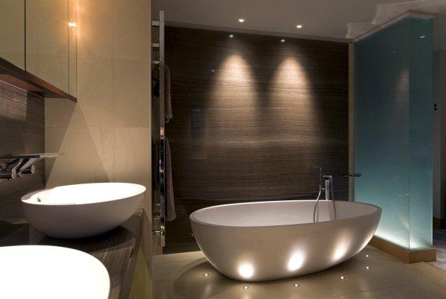 Eclairage d'ambiance salle de bain