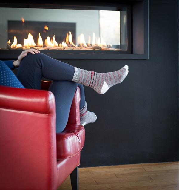 Cheminée gaz design et confort